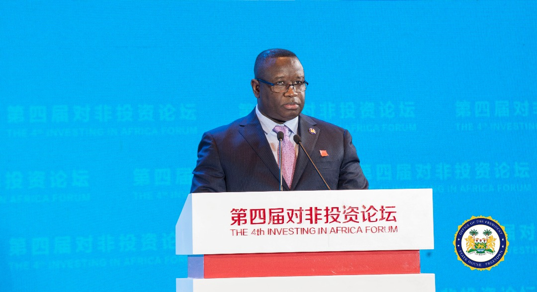 President Bio speaks at china investment forum 1