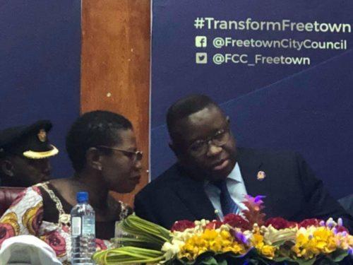 Mayor Aki Sawyerr and Bio launches transform Freetown 4