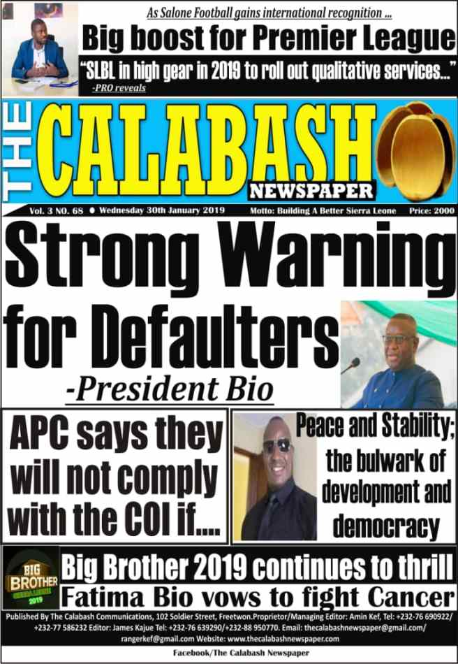 What newspapers in Sierra Leone say this morning