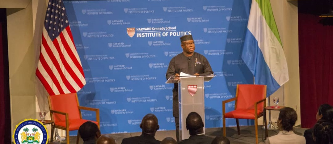 president Bio speaks at harvard 4
