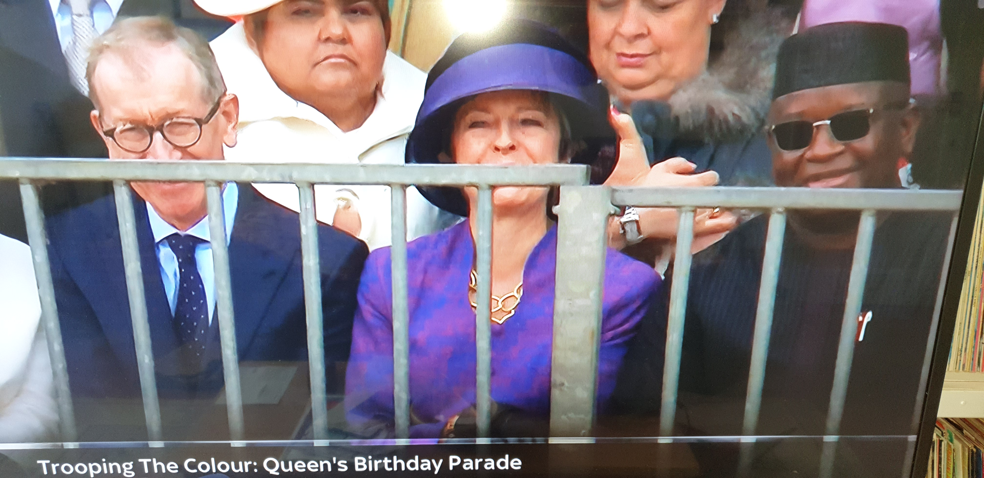 president Bio at queen birthday celebration 2