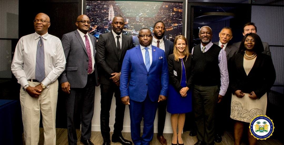 president Bio meets Idris Elba and his advisers