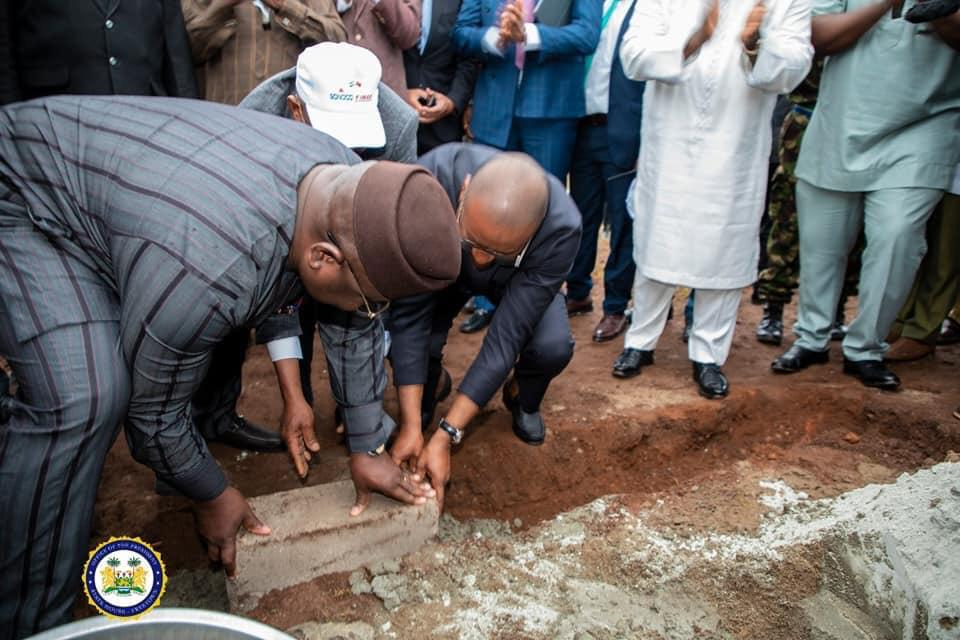 president Bio lays foundation stone for factory