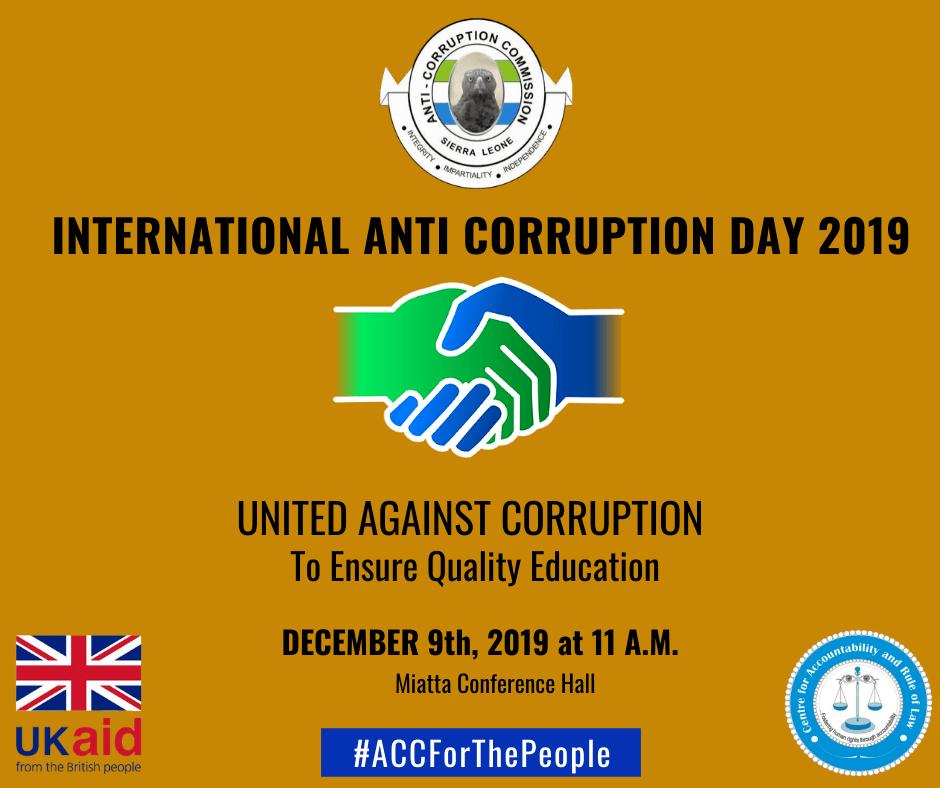 ACC – International Anti Corruption Day
