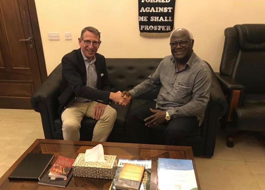 former president Koroma meets Horasis chairman