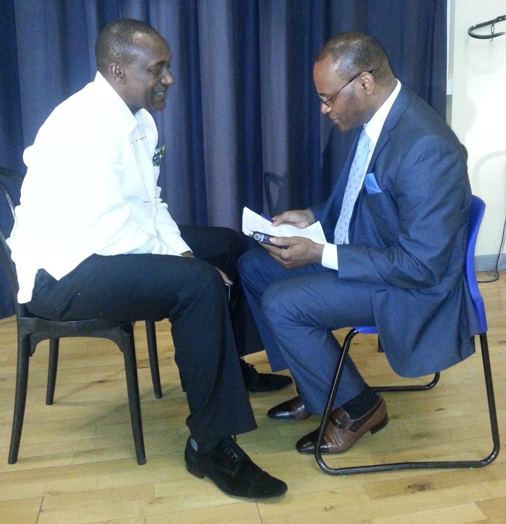 kandeh Yumkella speaking with Telegraph editor Abdul Thomas1