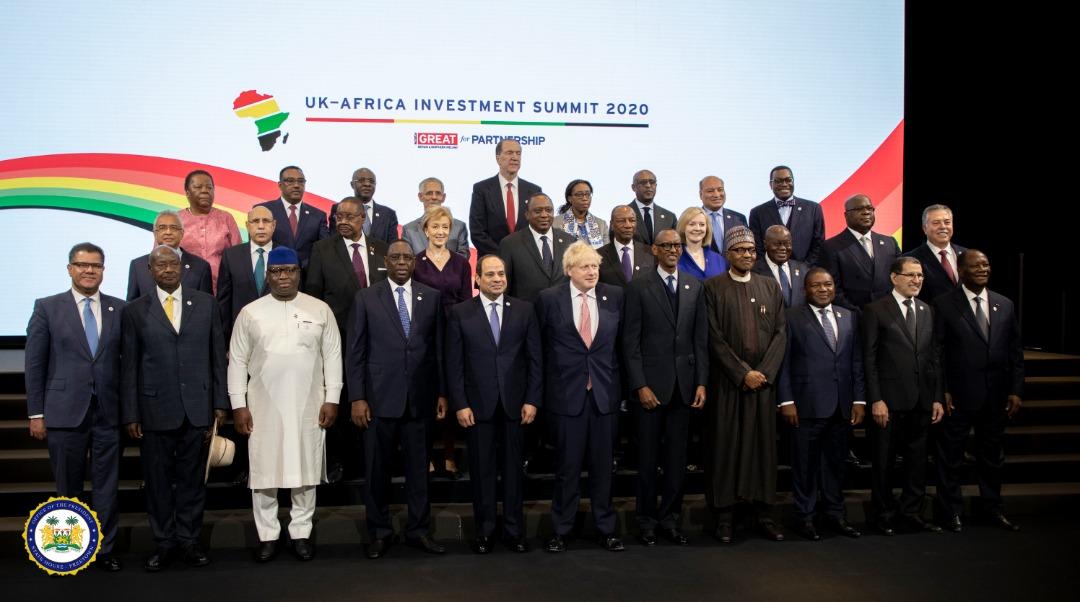 President Bio at the UK Africa Summit 2