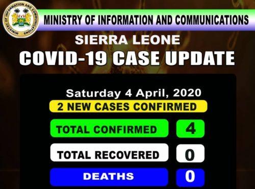 corona sierra leone status – 04042020 2