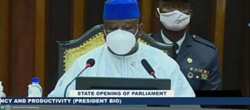 president Bio at state opening of parliament – 28 may 2020 1