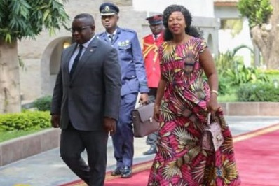 President Bio and Mrs Bio in Gambia 4