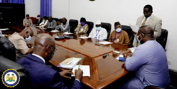 Public Service Commission presents report to President Bio2