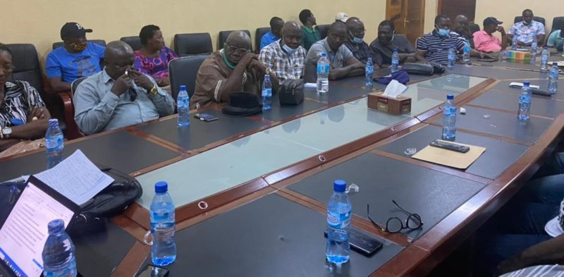 Prof Nonie as the Interim Chairman of SLPP Lecturers and other executive members