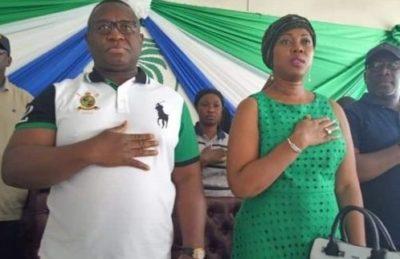 president Bio and Mrs Bio