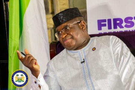 President Bio tells town hall style meeting – development is a process 1