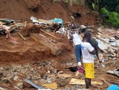 Destruction caused by heavy rains in Freetown –