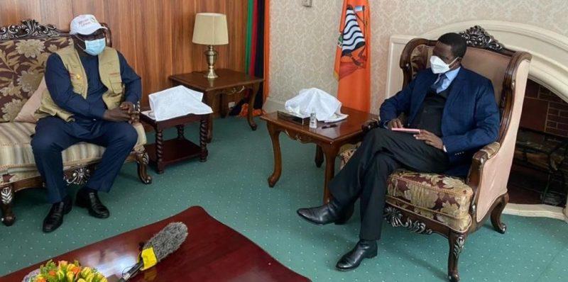 Former president Koroma meets Zambian President Edgar Lungu ahead of tomorrow's elections