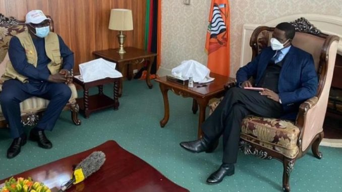 Former president Koroma meets Zambian President Edgar Lungu ahead of tomorrows elections e1628699782185