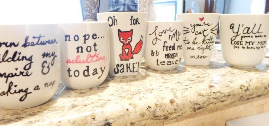 "Dishwasher Proof ""Sharpie"" Mugs"