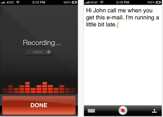 dragon dictation iphone app
