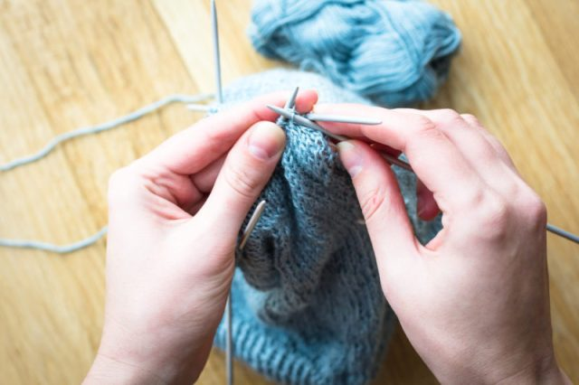 knitting - how to give without giving money