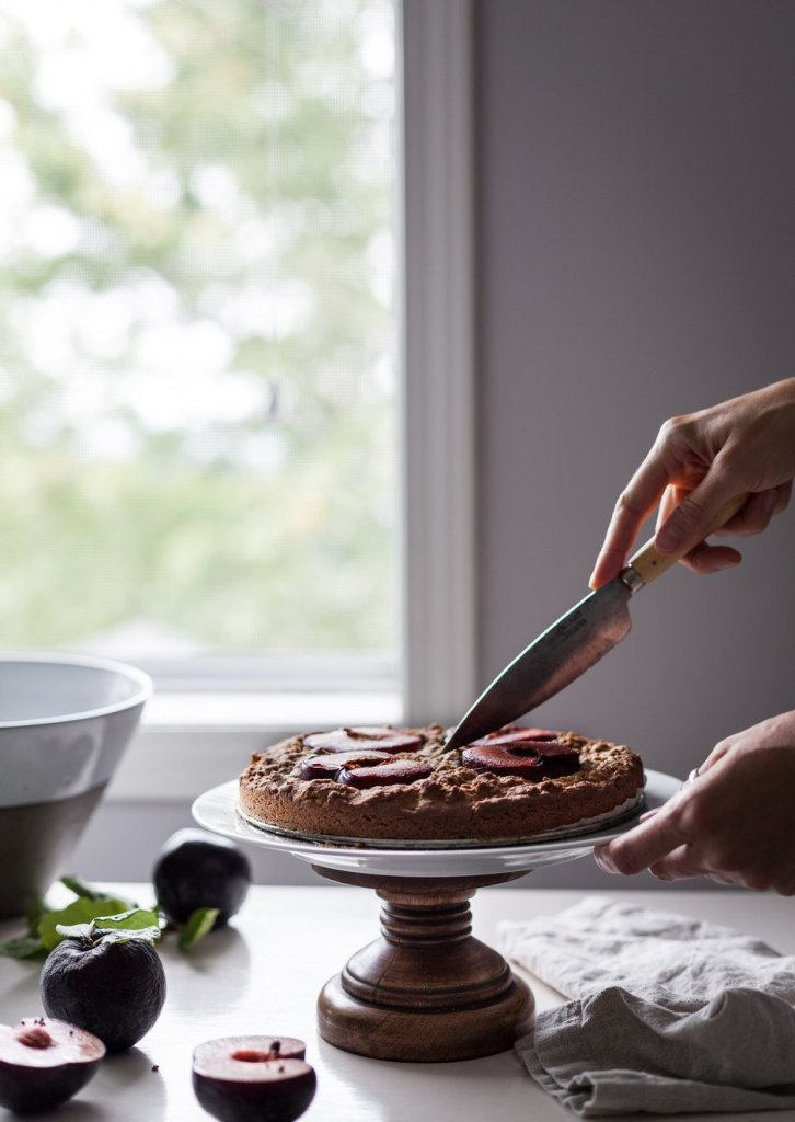 orchard plum cake -the simple green