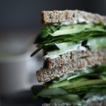 green goddess sandwich stack