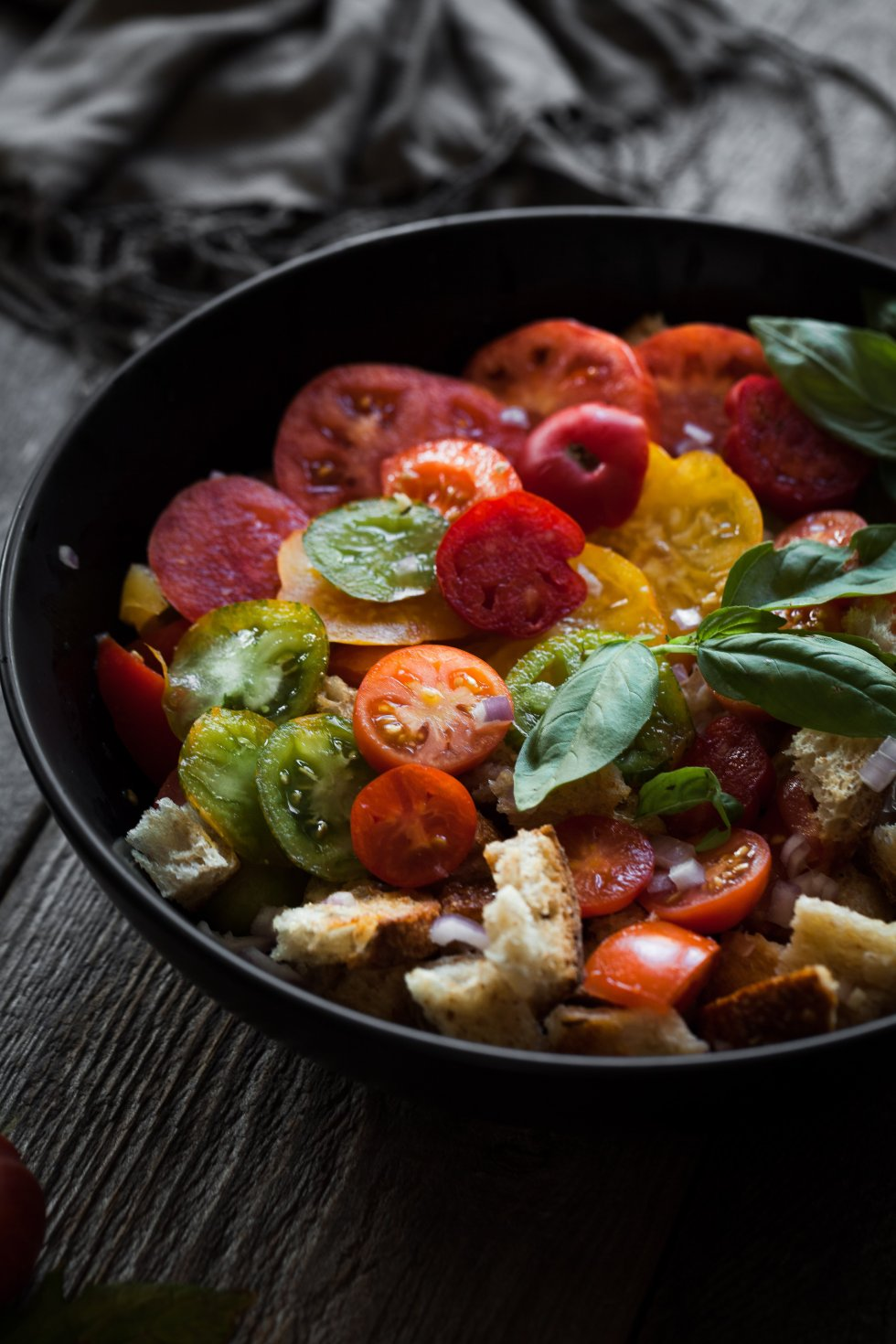 Heirloom Panzanella- the simple green