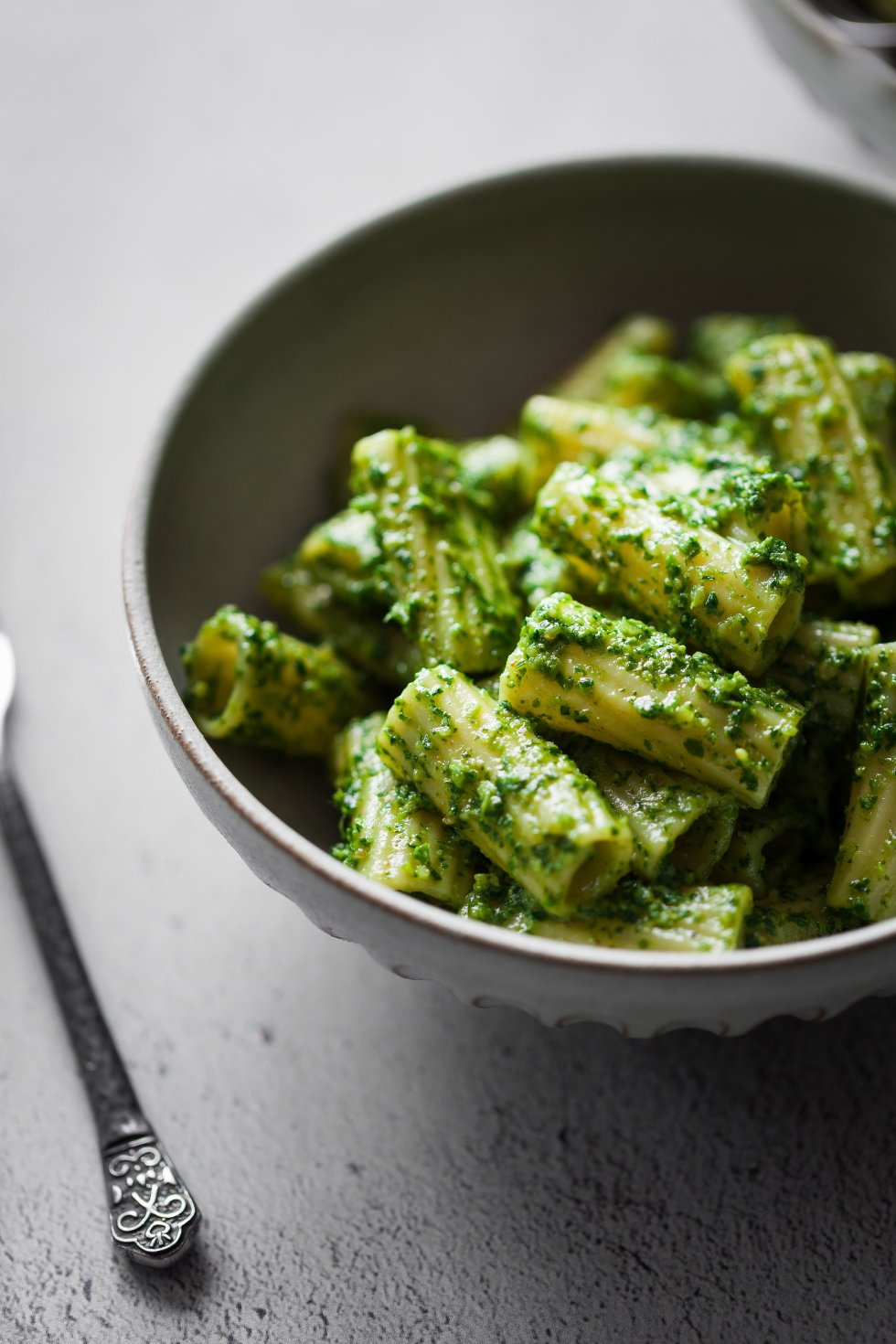 Parsley Walnut Pesto Rigatoni