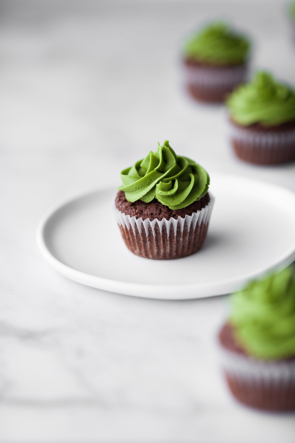 Vegan Chocolate Matcha Cupcakes
