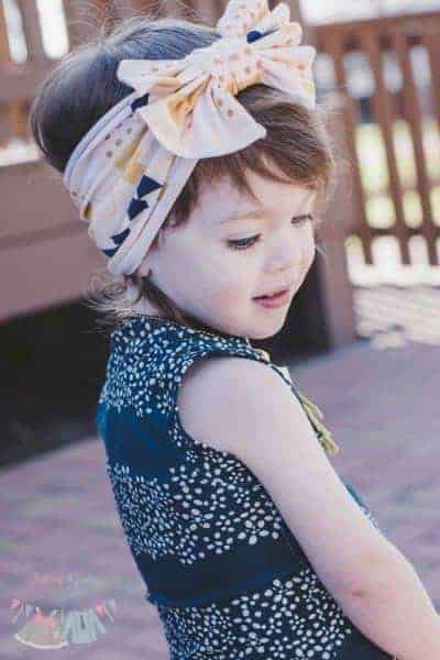 Barb's Knit Headband. PDF sewing pattern for NB-12 years.