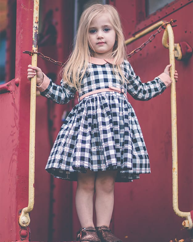 Simple life pattern company | Wendy's Classic Collar Dress. PDF Sewing Pattern Toddler Girl Sizes 2T-12. Peter Pan Collar, Sleeve with Cuff, Skinny Belt, Sleeves, Long 3/4, Short, Tank, Button Back, Deep Hem, Winter, Fall, Spring, Summer, Special Occasion, Holiday, Inseam Pocket, Collar
