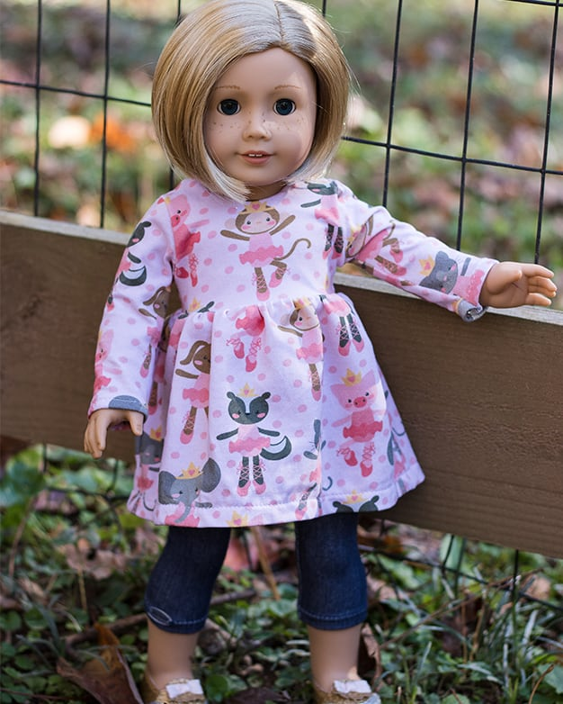 Simple Life pattern company doll Adelyn dolly top and dress knit vintage doll patterns for american girl wellie wisher and bitty baby and my generation