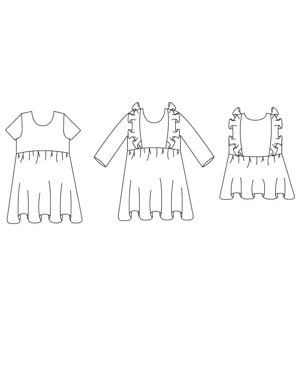 Knit Baby Jaimesyn Bodice Add-On. Downloadable PDF Sewing