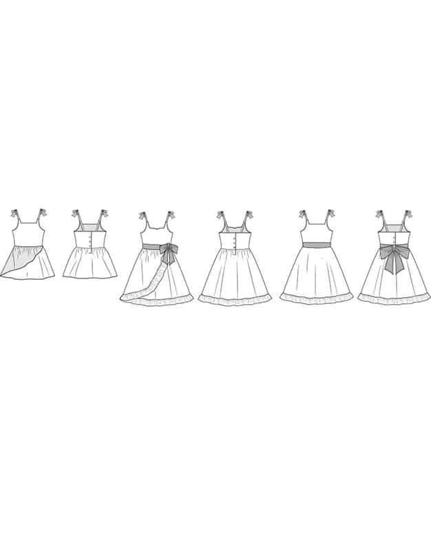 Baby Opal's Wrap Skirt Top & Dress. Downloadable PDF