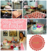 baby girl shower on a budget :: pink and gray :: planning ...