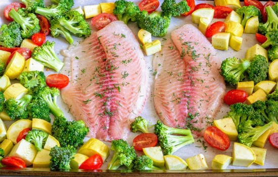 Easy Sheet Pan Tilapia & Veggies | Whole 30