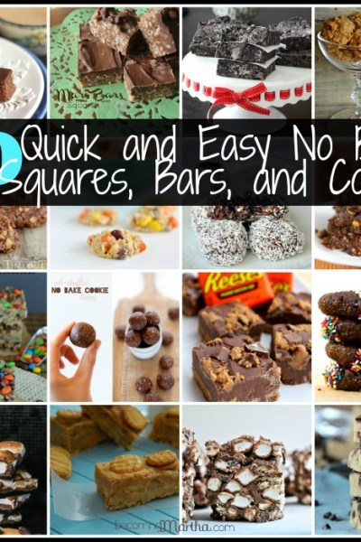 20 quick and easy no bake squares bars and cookies