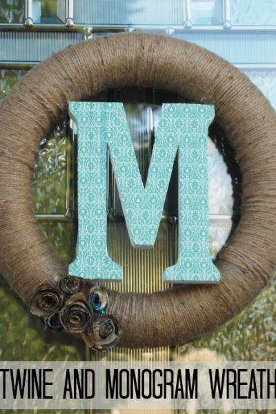 Twine and Monogram Wreath