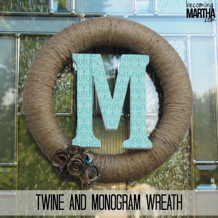 Twine and Monogram Wreath
