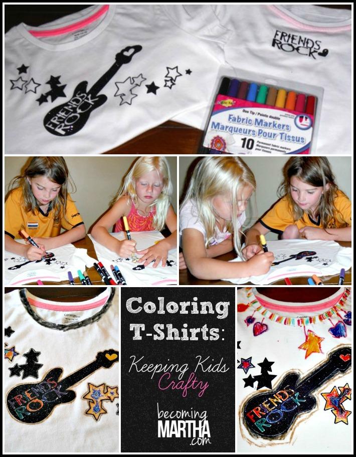 coloring tshirts kids craft