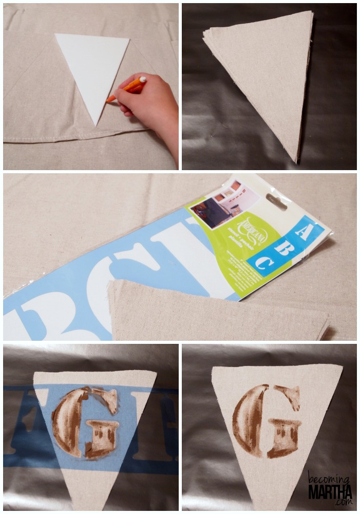 stenciled painted party banner 1