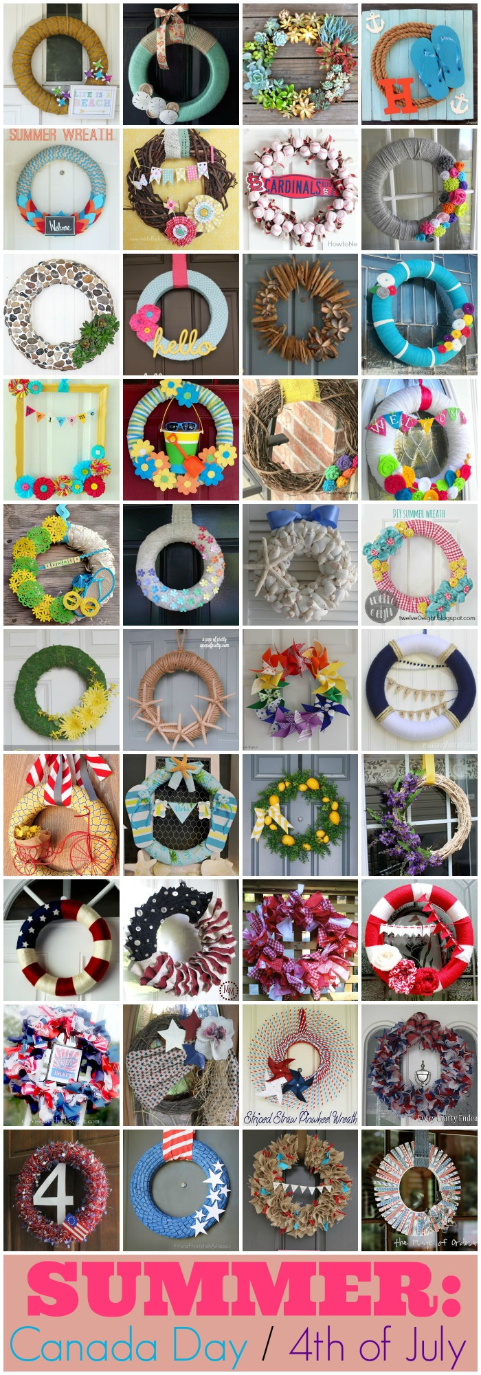 160 Best Wreath Tutorials for every season and holiday - from The Simply Crafted Life #wreath #tutorial #fall #winter #spring #summer