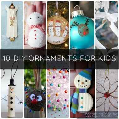 diy kids ornaments crafts