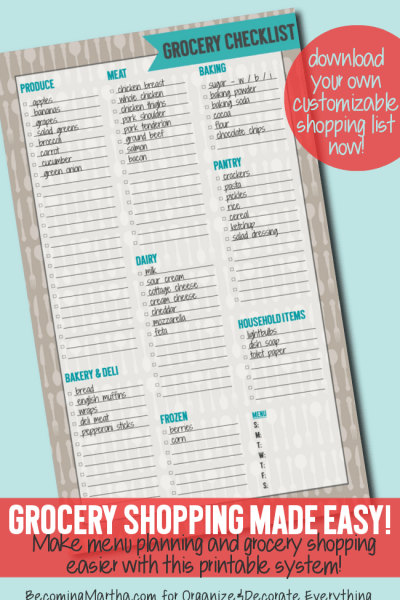 Grocery Shopping Checklist from The Simply Crafted Life