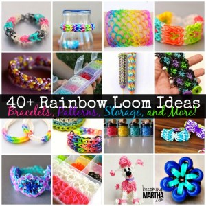Over 40 Ideas for the Rainbow Loom - from Bracelets and Patterns to Storage and Organization!