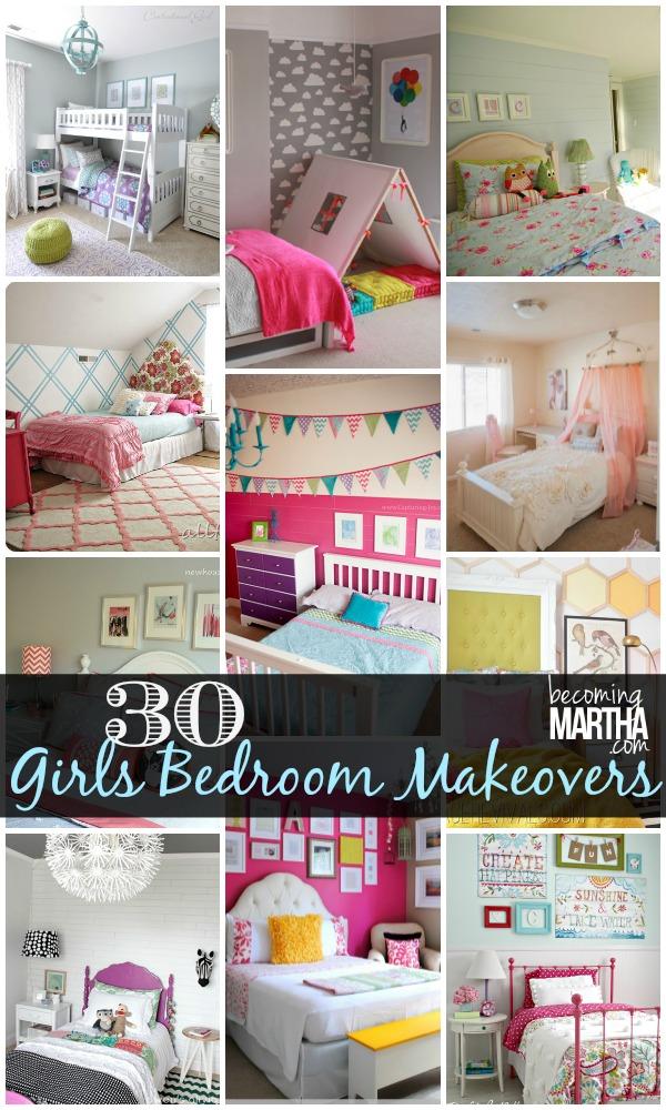 30 DIY Ideas for a Girls Bedroom Makeover