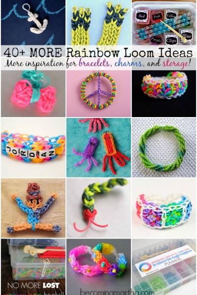 40+ Rainbow Loom Ideas - Bracelets, Charms, Storage, and more!