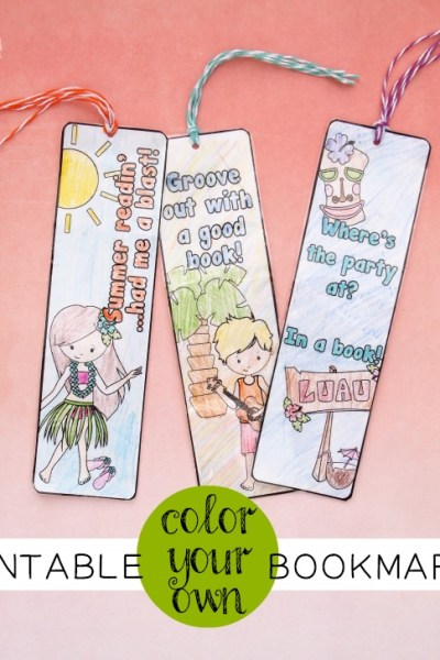 Color Your Own Printable Bookmarks
