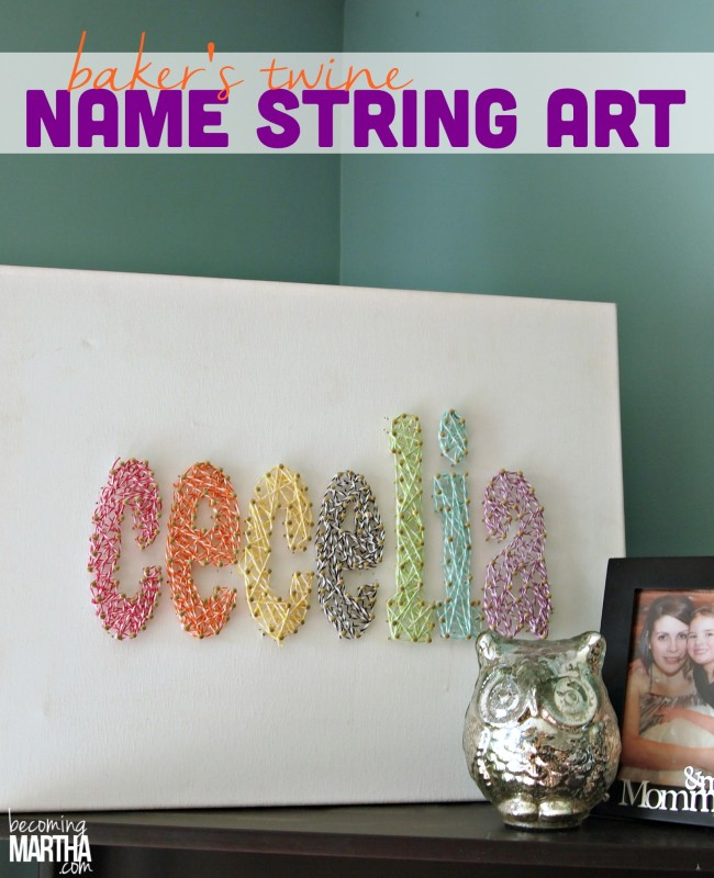 Baker's Twine String Art Canvas