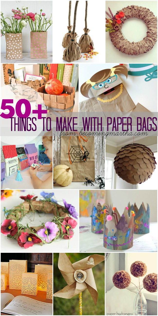 50+ Things to Make With Paper Bags - For the Holidays, Home, Gifts, Kids, Parties and more!